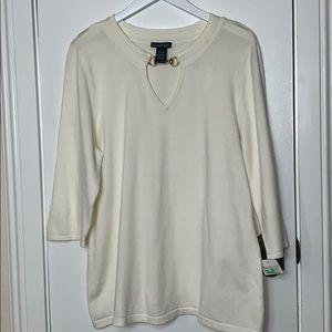 NWT Lane Bryant cream colored sweater size 14/16